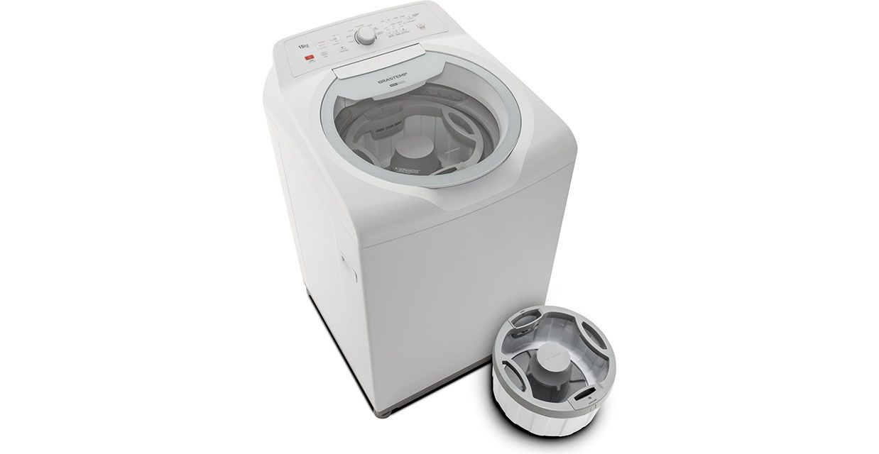 Lavadora Brastemp Double Wash 15 Kg Branco - BWD15AB