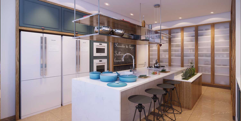 Due Z Arquitetura e Urbanismo - Beatriz Zamperlini e Mariana Zimmermann- Cozinha Planejada Brastemp Vitreous