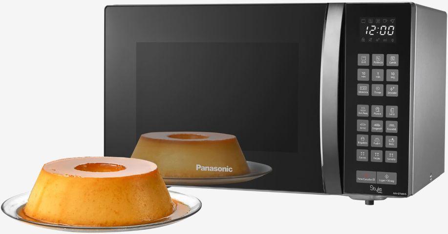 Forno de microondas Panasonic Style 30 litros grill - NN-GT68HS - bolo