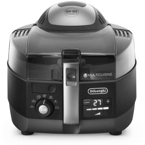 Fritadeira sem óleo DeLonghi Multicuisine Digital FH1394BK - frente
