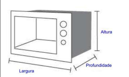 Medida de Microondas Consul- Saiba as dimensões dos modelos antes de comprar o seu forno