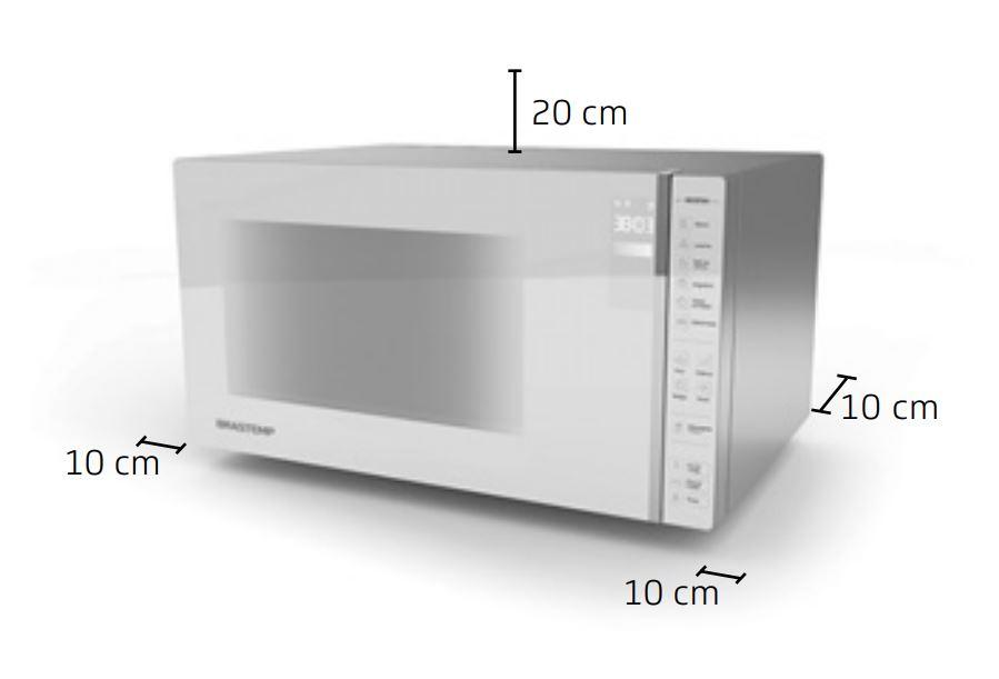 Microondas Brastemp 32 litros Espelhado BMS45CR - Instalação