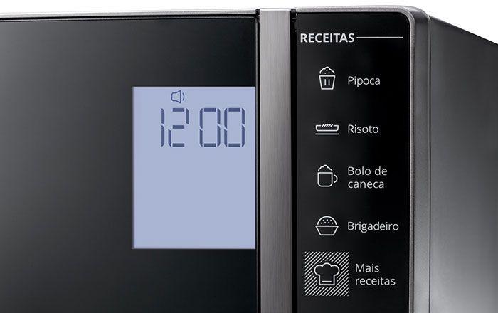 Microondas Brastemp 32 litros Espelhado BMS45CR - Display