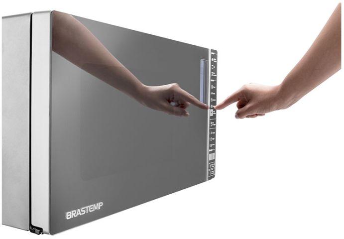 Microondas Brastemp 32 litrso com Grill BMG45-ajuste relógio