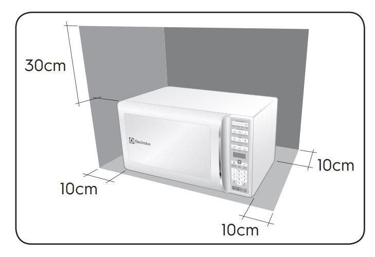 Instalação do microondas Electrolux