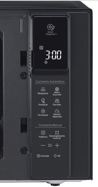Microondas LG 42 litros Smart Inverter com Grill NeoChef MH8297CIR-Painel Controle