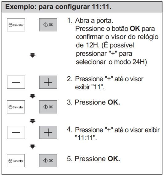 Como ajustar o relógio do Microondas LG 42 - MH8297CIR
