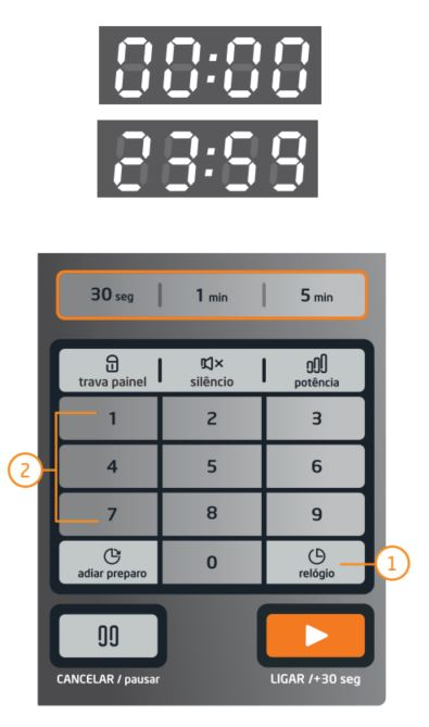 Microondas Midea - como ajustar relógio - MTAEG4-MTAE4