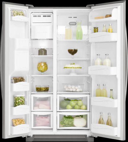 Refrigerador Side by Side 2 Portas 504 Litros SS72X-aberto