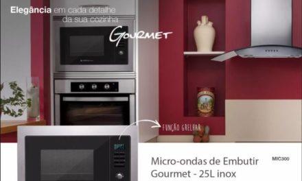 Medidas do Microondas Cadence de Embutir Gourmet 25L – MIC300