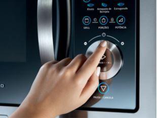 Microondas Electrolux 28L Home Pro de Embutir MB38X - Botão Giratório