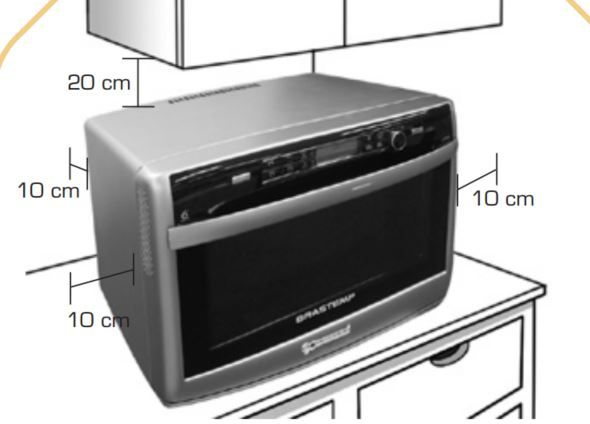 Forno com microondas Brastemp 31L BMD35 - Instalação