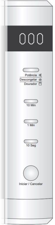 Microondas Fischer 24L de Embutir com Grill 6946 - Painel Controle