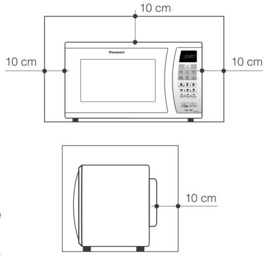 Local da Instalação do Microondas Panasonic 30 litros Inox - NN-GT684S