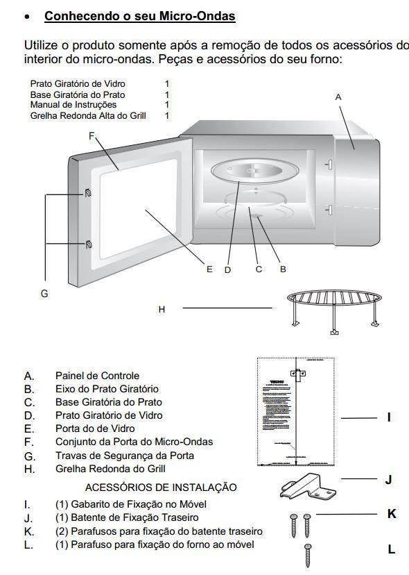 Microondas Tecno 25L Combinado Velox TM25 - Acessório