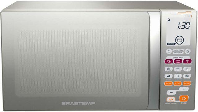 Microondas Brastemp 30L com Grill Inox BMT45