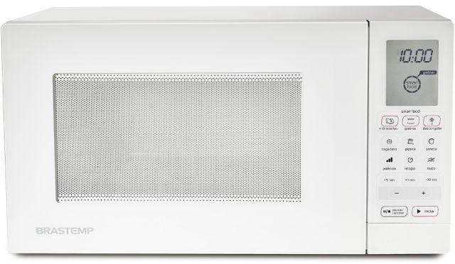 Microondas Brastemp 30L Branco com Grill BMH45