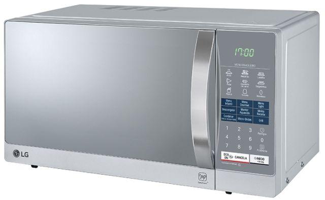 Micro-ondas LG 30L Easy Clean Prata e Espelhado MH7057Q(A)