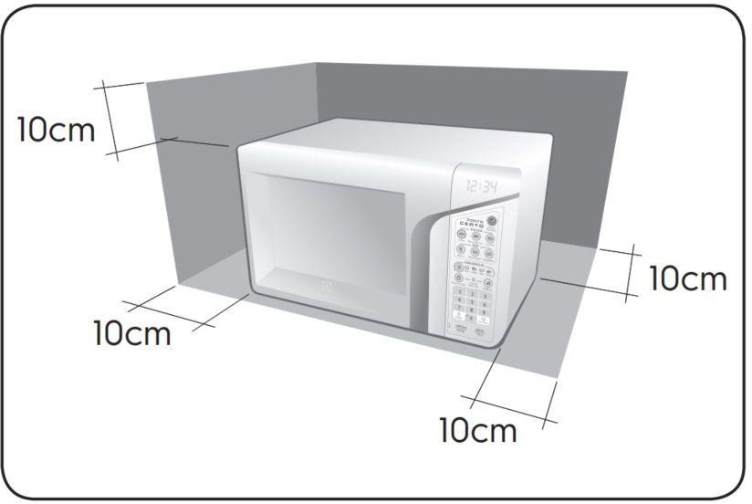 Microondas Electrolux 27L Ponto Certo MEP37 - Instalação