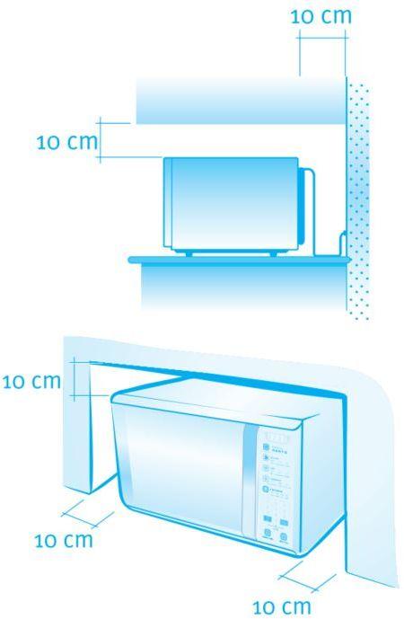 Microondas Electrolux 43L I-Kitchen Inox com Grill MTX52 - instalação
