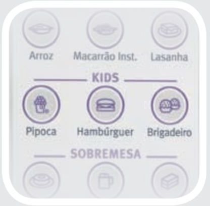 Microondas Electrolux 31L MEP41 - Menu Kids