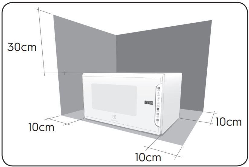 Microondas Electrolux 31L Painel Integrado MI41S - Instalação