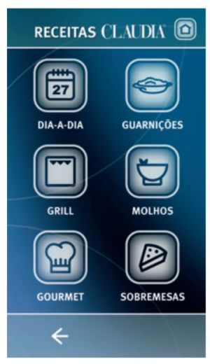Microondas Electrolux 43L I-Kitchen Inox com Grill MTX52 - Painel Receitas