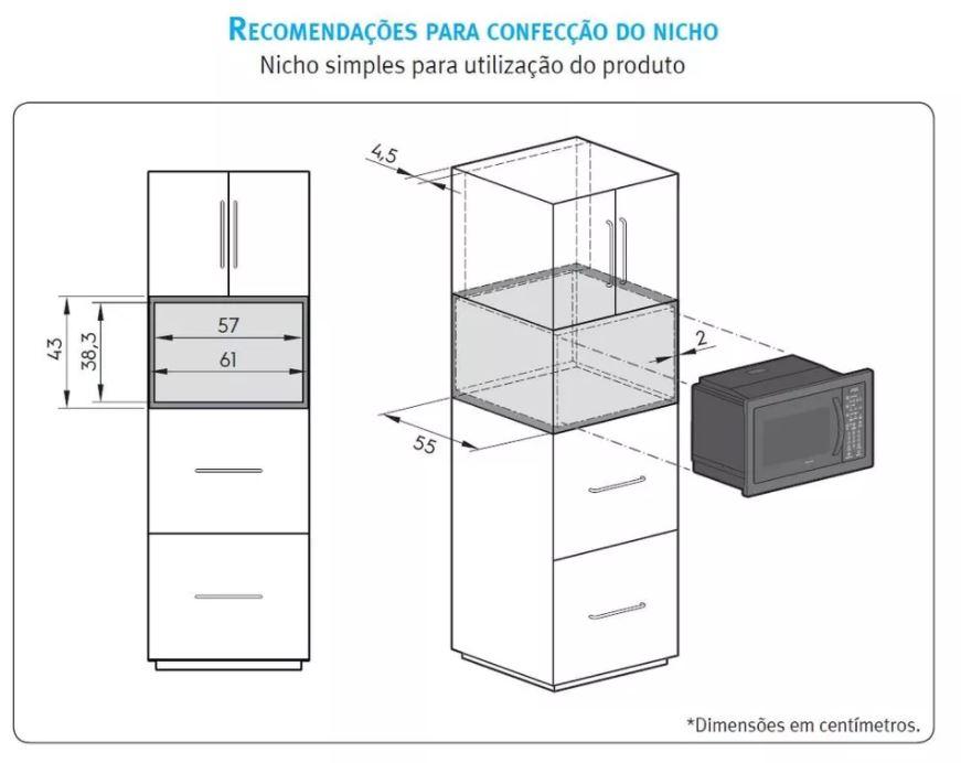 Microondas Electrolux de Embutir 34 litros - MB43T