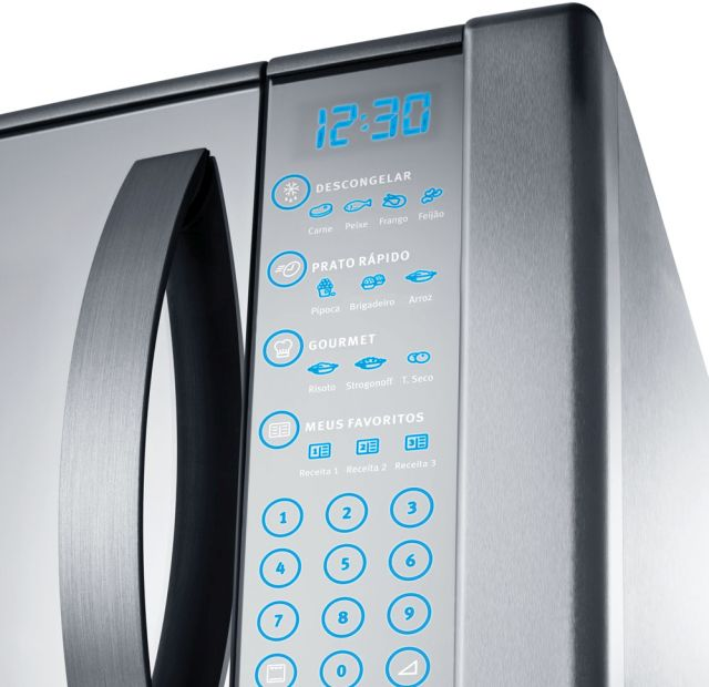 Microondas Electrolux 31L Blue Touch Espelhado MEC41 com Grill