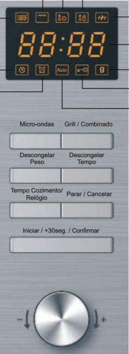 Microondas Franke 25L de Embutir com Grill FMW250SM G SX - Painel Controle