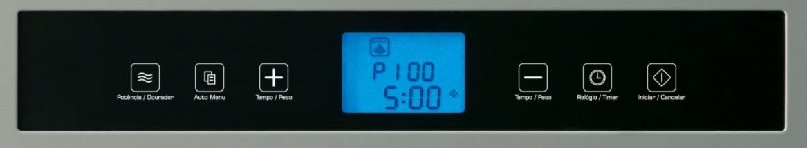 Microondas Fischer de Embutir 17411 - Painel controle