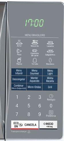 Como ajustar o relógio do Micro-ondas LG 30L - MH7057Q(A) -