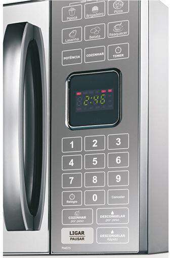 Microondas Philco 25L Porta Espelhada PME25 - painel