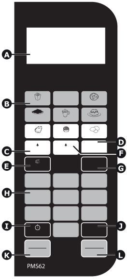 Microondas Philco 62L PMS62 - Painel Controle