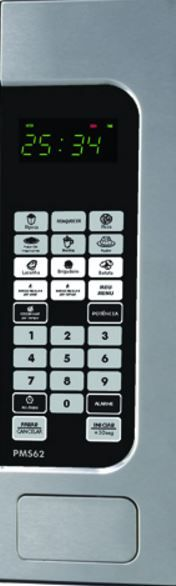 Microondas Philco 62L PMS62 - Painel