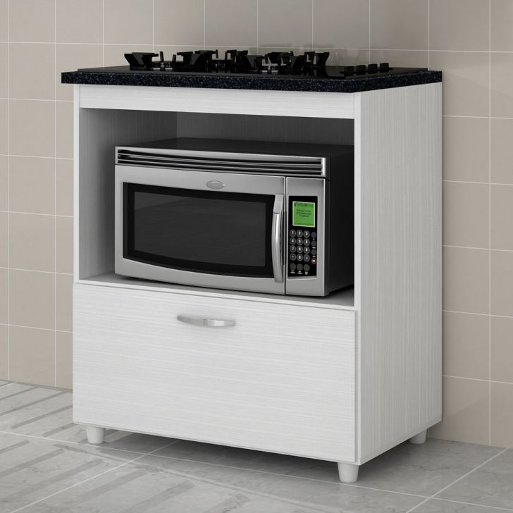 Balcão para cooktop e microondas 1 portas Benetil
