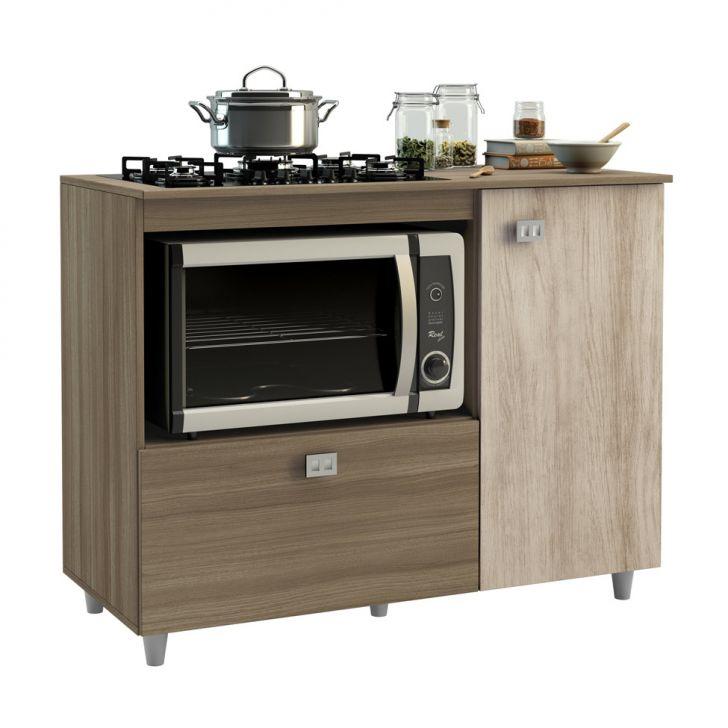 Balcão para cooktop e microondas 2 portas Montana e Elmo Jaeli