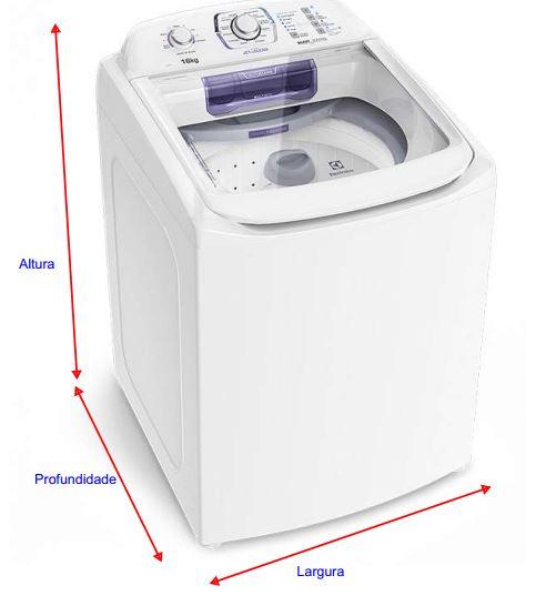 Medidas de lavadora de roupas electrolux de 12 a 14 kg for Medidas de lavadoras
