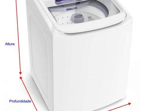 Medidas de Lavadora de Roupas Electrolux – até 11 Kg