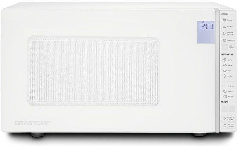 Micro-ondas Brastemp 32 Litros espelhado com Painel Integrado Branco - BMS45