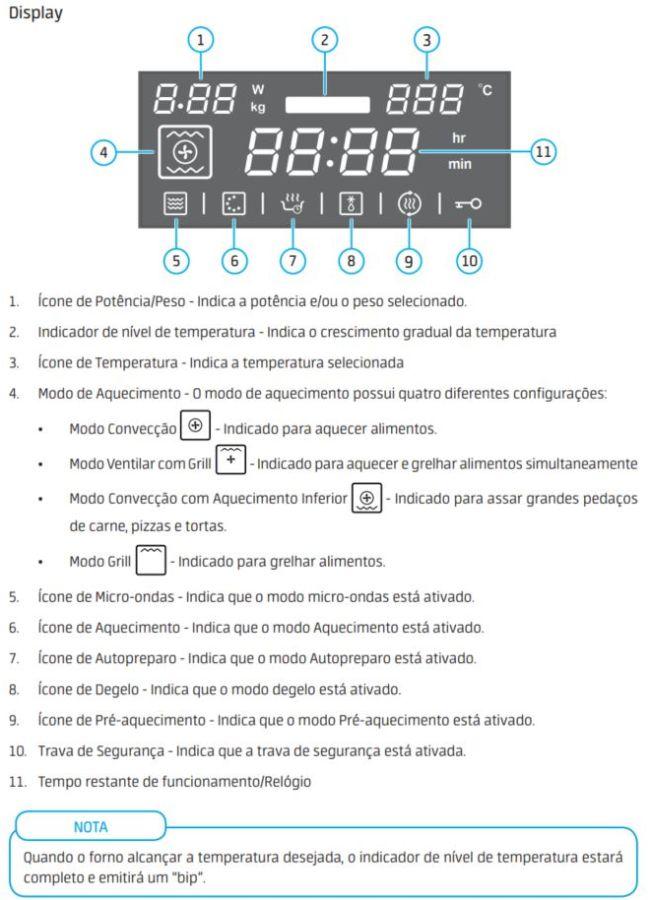 Como ajustar a potência do Microondas de embutir Midea Desea 45 litros MYAC72