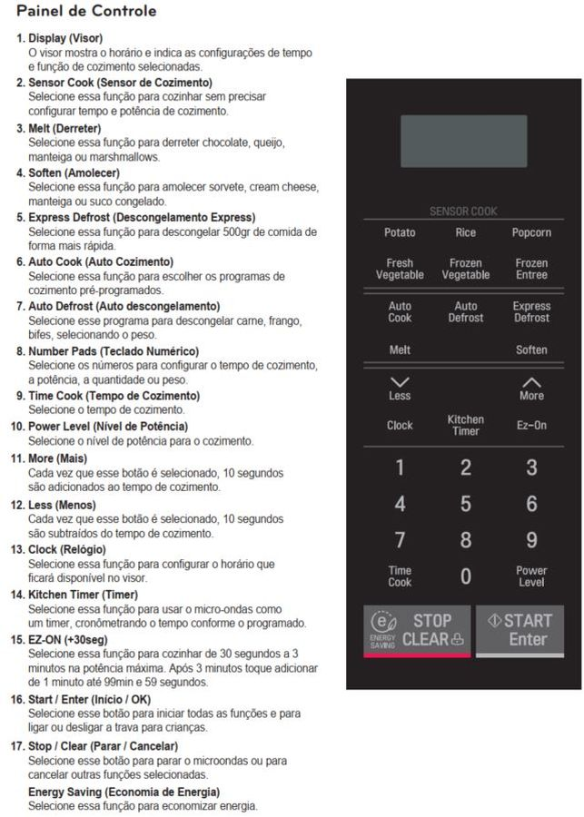 Como ajustar a potência do microondas LG Studio de Embutir LSRM2010