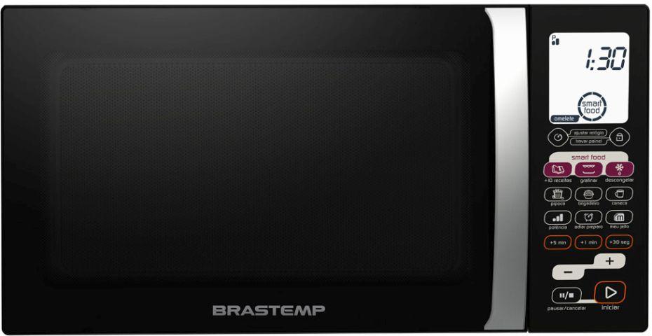 Microondas cor preta Brastemp AllBlack 30 Litros com Grill - BMK45AE