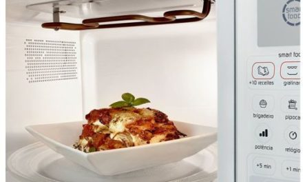 Como usar o grill do microondas Brastemp 30 litros Grill Branco – BMH45