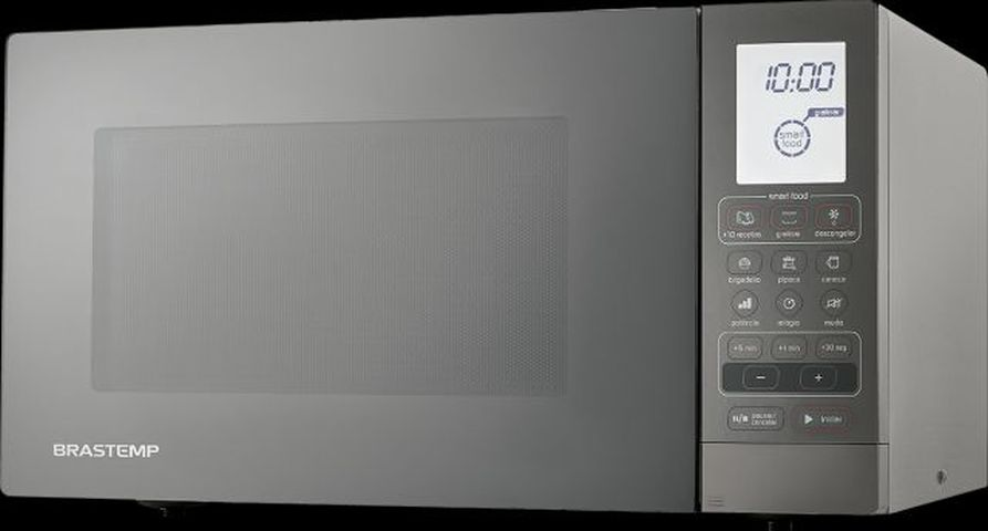 Micro-ondas Brastemp 30 L Prata com Grill - BMY45