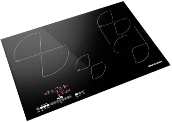 Medidas do Cooktop 4 bocas de indução Brastemp Gourmand com smart zone - BDJ80AE