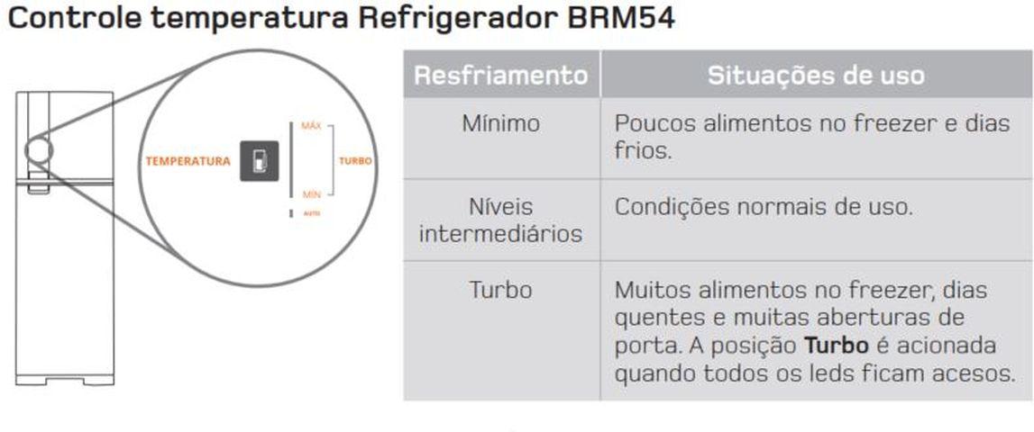 Como ajustar a temperatura da Geladeira Brastemp Frost Free Duplex 400 litros - BRM54