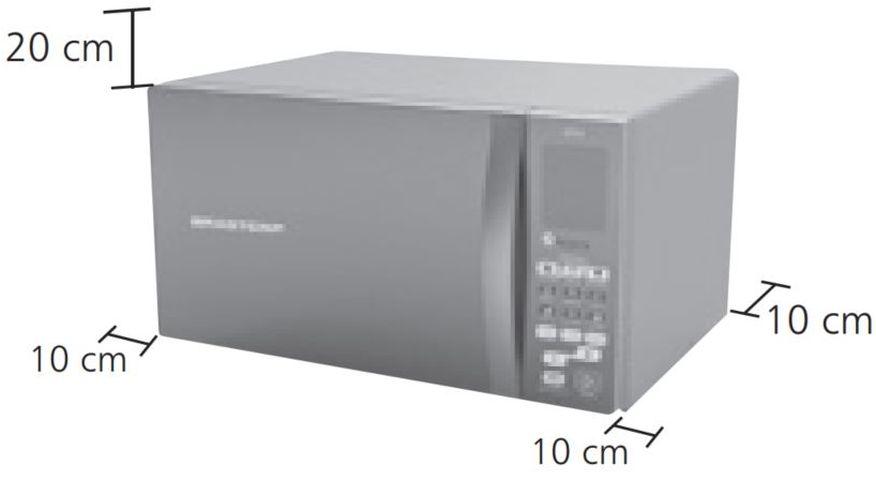 Local da Instalação do Microondas Brastemp 32 litros - BMS45