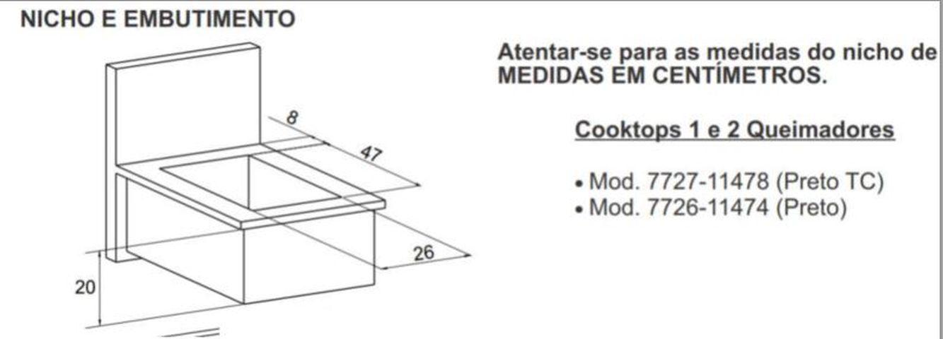 Instalação do Cooktop - Medidas do nicho
