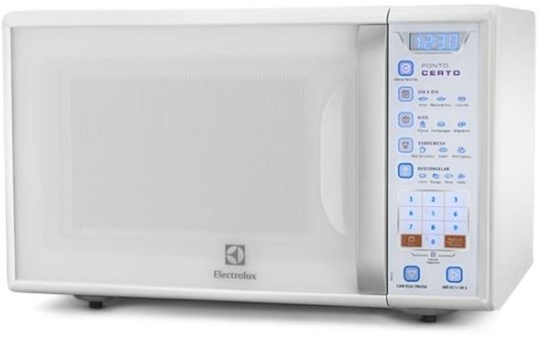 Medidas do Microondas Electrolux 31 litros Grill Blue Touch MB41G